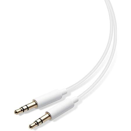 エレコム オーディオケーブル φ3.5-φ3.5 スリムコネクタ 1.0m ホワイト
