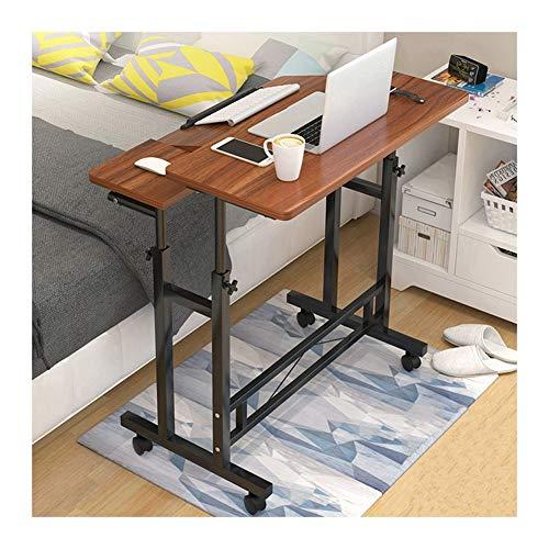 GUOQING Laptoptisch Rollen, Laptoptisch Mit Rollen, Notebooktisch, Pflegetisch, for Büro Schlafzimmer Laptopständer Pflegetisch (Color : Old Sandalwood, Size : 80x58cm)