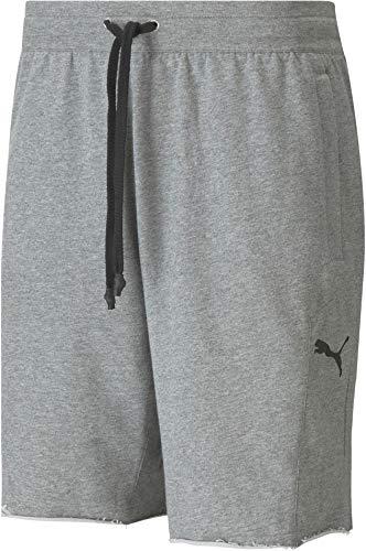 Puma x Gold's Gym - Pantalones cortos de entrenamiento para hombre, gris medio, extra-large