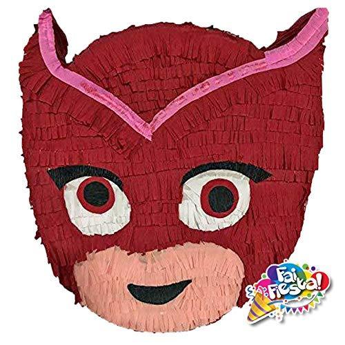 Pignatta di Gufetta Super PJ mask (pentolaccia, piñata) superpigiamini per feste di comleanno a tema. Personalizzabile. Made in Italy. Da riempire. HxLxP 52x42x10 cm