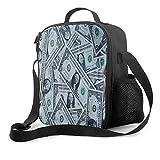 USA Dollar Money Print Bolsa de almuerzo reutilizable aislada Contenedor de...
