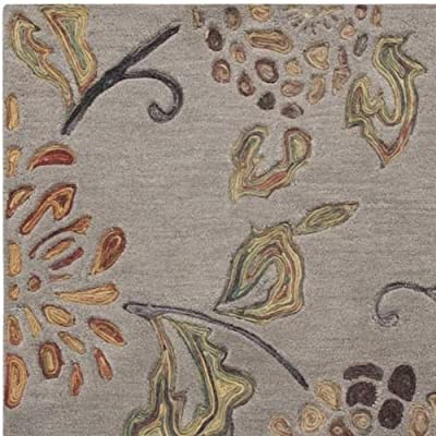 Surya Enchanted ENC-4001 Transitional Hand Tufted 100% Wool Mossy Stone 5' x 8' Floral Area Rug