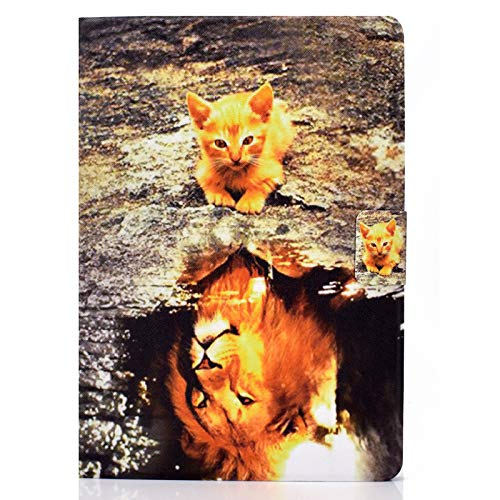 JIan Ying Case for iPad Pro 11 (2020) /(2018) (11-inch, 1st /2nd generation) Slim Lightweight Elegant Protector Cover Cat and lion