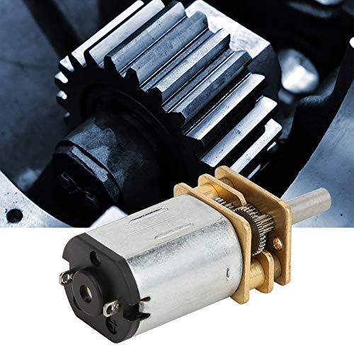 Jarchii [Xmas Present] 6mm Gear Motor, DC6V High Torsion 600RPM/800RPM/2000RPM Low Noise All-Metal Structure Gear Box for Electric Vehicles Industrial Fans Construction Machinery(600RPM)