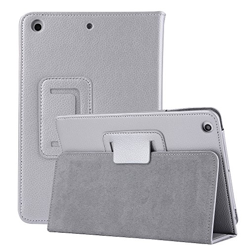 TechCode 10.1'' T585 Tab A Case, Lightweight Smart Book Case with Multi-Angle Viewing, Microfiber Lining Corner Protection Cover for The Samsung Galaxy Tab A 10.1 2016 Tablet SM-T580/SM-T585,Silver