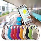 Smart Key Finder Locator Wireless Alarm Sensor Device for Kids Car Wallet Pets Luggage Phone Selfie Shutter Alarm Reminder App Anti-lost Tag Alarm Reminder Key Finder (A)