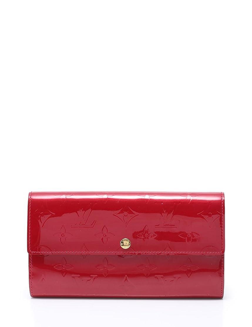 拒否避けられないコーン(ルイ?ヴィトン) ポルトフォイユ サラ 長財布 モノグラム ヴェルニ ポムダムール 赤 M93530 中古