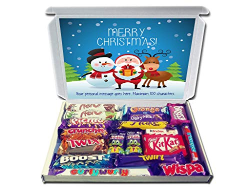 Personalised Christmas PALS Christmas Chocolate Selection Box Gift Hamper Great for The Kids and Grandkids