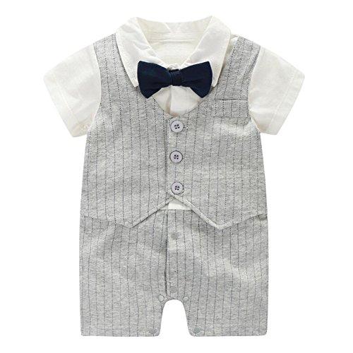 Fairy Baby Baby Strampler Jungen, Babykleidung aus Bio-Baumwolle Strampler-Set Klitzeklein Kurzarmbody für Jungen(0-24 Monate)