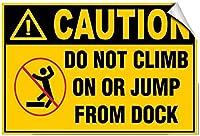 ビンテージの外観の再現、注意ドックスタイルのブリキの壁の看板に登ったりジャンプしたりしないでください