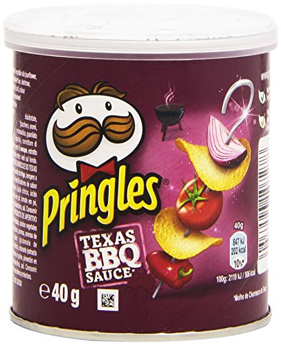 Pringles - Texas BBQ Souce - Productos de aperitivo frito con sabor a salsa barbacoa texana - 40 g