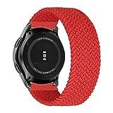 MroTech Compatible con Huawei Watch GT 2 46 mm/GT 2e/GT2 Pro Correa Nailon 22mm Pulseras Repuesto para Samsung Galaxy Watch 3 45mm/Gear S3 Frontier/Galaxy 46mm Banda Nylon Woven Loop Deportiva-Rojo/S