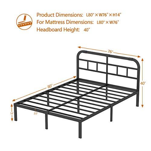ZIYOO 3000LBS Heavy Duty Bed Frame