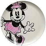 Zak Designs MMOP-0353 Mickey & Minnie Melamine Plates, Disney Minnie Mouse