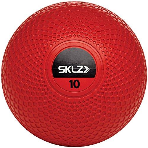 SKLZ Medizinball Med Ball (4,5kg/10lb) - Hochwertiger Medizinball mit 22cm Durchmesser, Rot, 1size, MBRT-010