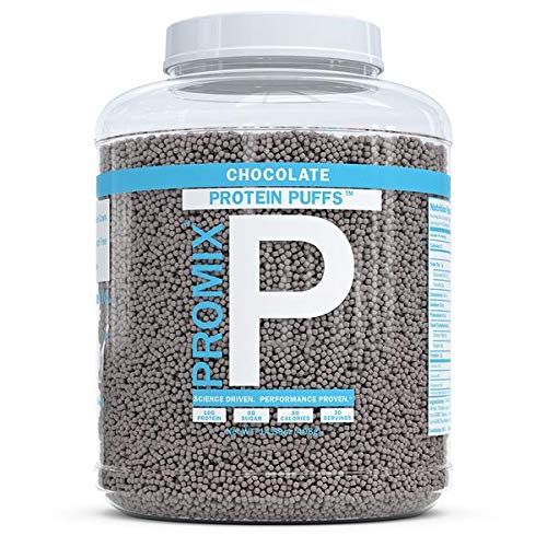 ProMix Whey Protein Isolate Puffs, 30 Servings   10g Protein, 0g Sugar, 50 Calories per Serving   Grass Fed Protein Crisps, Healthy High Protein Low Sugar (Chocolate)