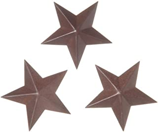 Ultra Mini Primitive Rusted Barn Stars-6 Packages of 3 for 18 Mini Stars