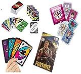 ML Pack de 4 Juegos de Cartas Uno, Juego de Mesa para niños y Adultos...