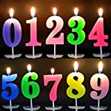 TX 10 Piezas Velas de Cumpleaños Vela Multicolor Velas de N
