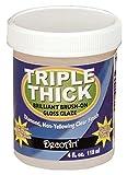 DecoArt Triple Thick Gloss Glaze 4 Ounce Wide Mouth Jar TG01-10 (3-Pack)