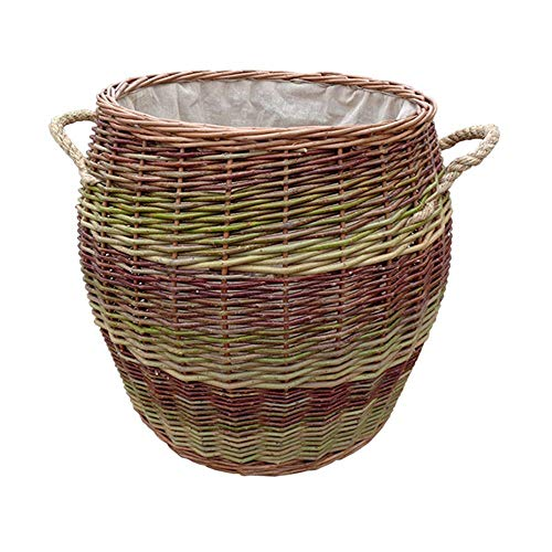 Kabelhandvat Wicker Barrel Inloggen Basket