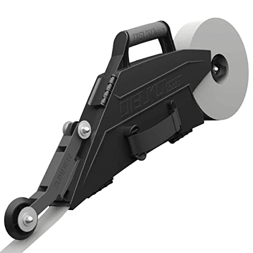 Delko Zunder Drywall Banjo Taping Tool with Reversible Inside Corner Roller Wheel - Dual Right/