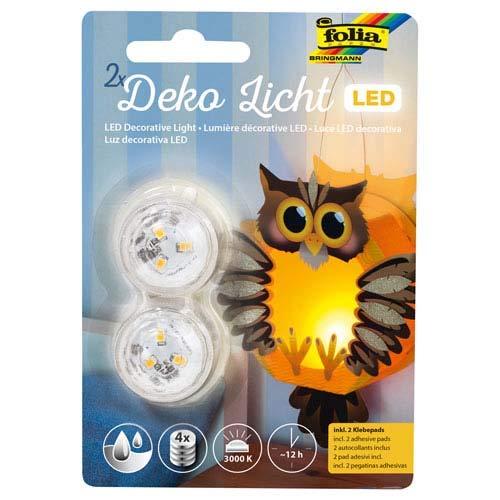 Unbekannt Folia LED Deko Licht, 2er Set - Laternenlicht Kerzenlicht