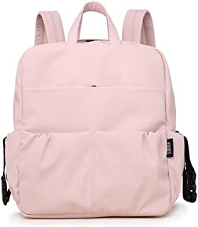 Redland Art Large Capacity Diaper Backpack For Newborn Baby Waterproof Pink Cute Diaper Bag For Mother Maternity Bag For Travel Baby Care (Color : Pink)