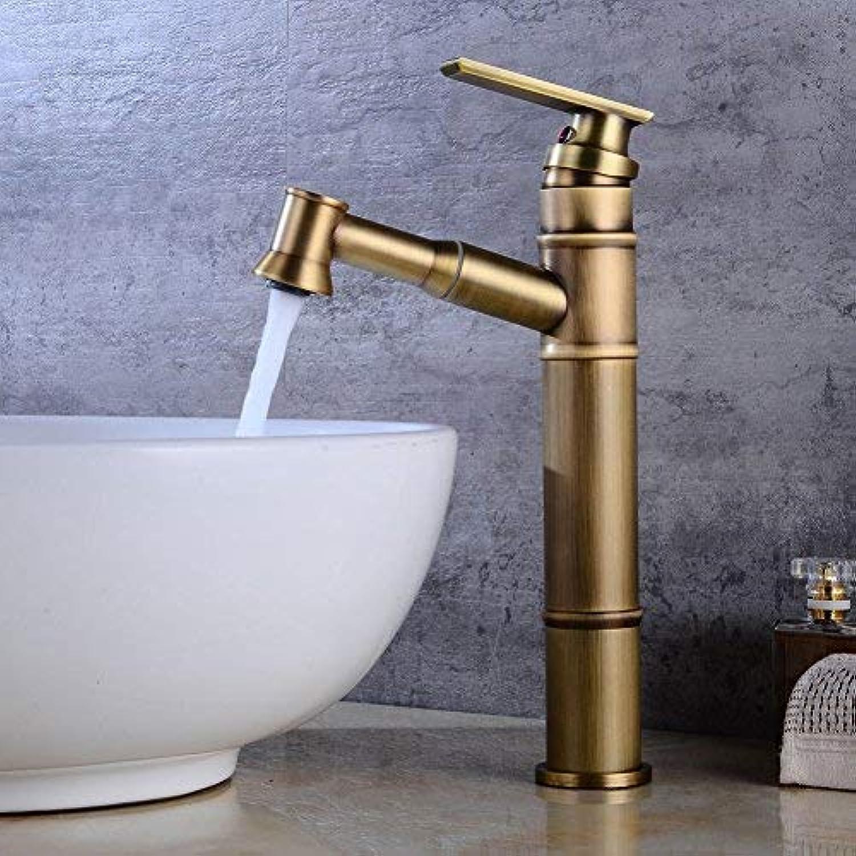 Home Ware Wasserhahn Antike Pull Wasserhahn Bad Angehoben Wasserhahn über Theke Becken Ziehen Waschbecken Wasserhahn Einlochmontage Heien und Kalten Wasserhahn
