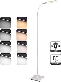 Lampara de pie LED Regulable TaoTronics Luz de Pie para Salon, Dormitorio, Estudio y Leer, Diseño Moderno, Luz cuidado Ojos, Bajo Consumo, Blanco