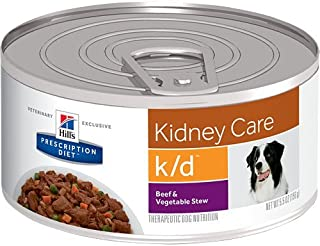 HILL`S Prescription Diet k/d Kidney Care Beef & Vegetable Stew Canned Dog Food 12/5.5 oz