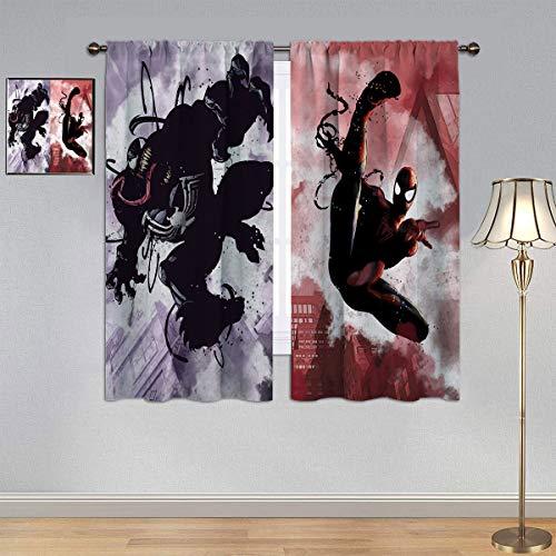 ARYAGO Black Out Cortinas The Avengers, Venom y Spiderman Eficiencia Energética Cortinas para Dormitorio/Sala de estar 2014 x 2014 cm