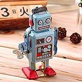 Ogquaton Niedliche Vintage mechanische Uhrwerk Wickeln Metall zu Fuß Roboter Spielzeug Kinder Geschenk langlebig und nützlich