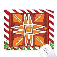 オレンジの太陽メキシコトーテムの古代文明の描画 ゴムクリスマスキャンディマウスパッド