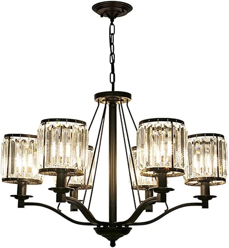 ZRABCD Lamp Pendant Light Indus Latest item Crystal Chandelier Ceiling Max 81% OFF