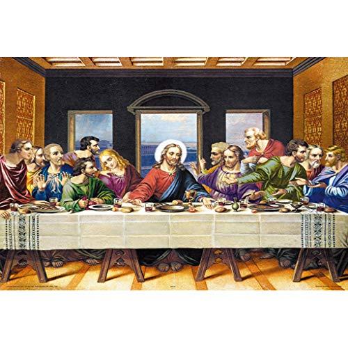 MISS YOU Puzzle Ultima Cena Adulti Legno Jigsaw World Pittura a Olio Famosa Gesù Puzzle 4000 Pezzo (Color : A, Dimensione : 4000 Pieces)