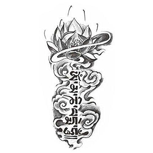 Creative Lotus Totem Autocollants Tattoo Body Fashion faux tatouages Design Tattoo