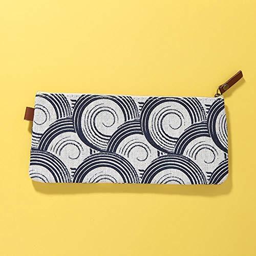 Pencil Box Cotton and Linen Students Cute Pen Bag Canvas Pen Table with Bag Storage Bag,Di