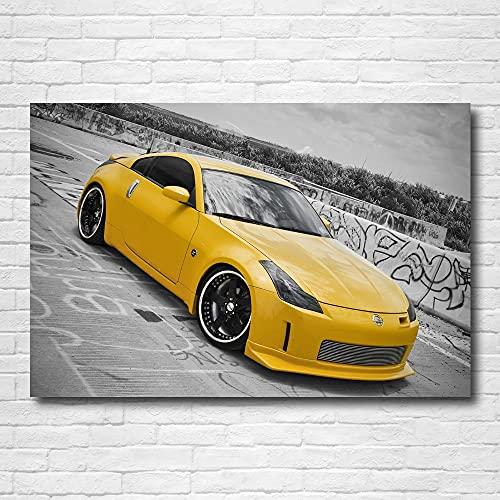 Cuadros decorativos Carteles de superdeportivos Nissan 350Z en Sevas forjado clásico coche papel tapiz impresión pinturas lienzo pared arte cartel para decoración de habitación hogar 24x31pulgadas