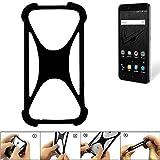 K-S-Trade Handyhülle für Allview V2 Viper XE Schutz Hülle Silikon Bumper Cover Case Silikoncase TPU Softcase Schutzhülle Smartphone Stoßschutz, schwarz (1x)