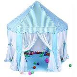 Tents Yurt, Sechseckiges Spielhaus für den Innenbereich, rosa Spiel, mit Netzgarn, leicht montiert,...