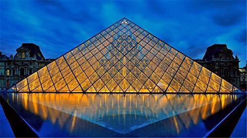 Rompecabezas 1000 Piezas Museo Del Louvre Pirámide Puzzle Clásico 3D Puzzle Diy Kit Juguete De Madera Regalo Único Decoración Para El Hogar