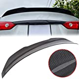 ECOTRIC Rear Trunk Spoiler Roof Wing Lip JDM Style Compatible with 2014-2019 Infiniti Q50 (Material Plastic|Carbon Fiber Painted)