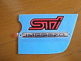 2005 Subaru Impreza Genuine WRX STi Rear Trunk Emblem Pink And Black OEM NEW