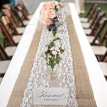 Burlap table runner Wedding Table Runner Rustic Table runner Wedding decor Natura linen lace runner Gray table runner Custom table runner
