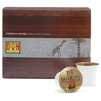Diedrich Morning Edition Blend Single-Serve Keurig K-Cup Pods Medium Roast Coffee 24 Count  Pack of 2