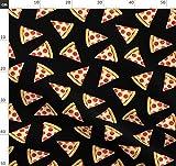 modisch, Essen, ungesundes Essen, Pizza, Salami Pizza,