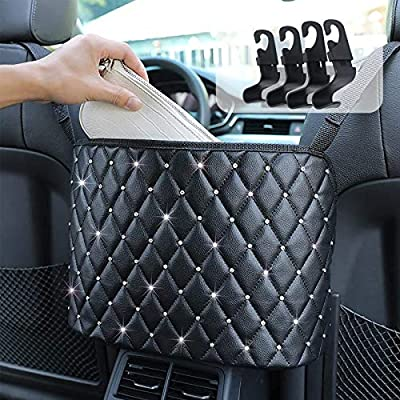 Amazon - 50% Off on Car Net Pocket Handbag,Purse Holder for Car Luxury Leather Seat Back