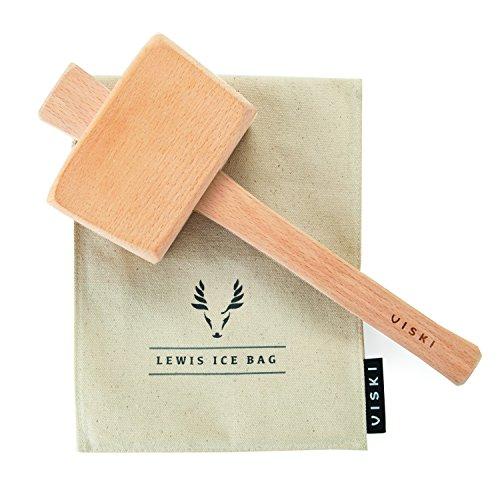 Viski Professional Lewis Bag and Mallet Bartender Kit & Bar Tools...