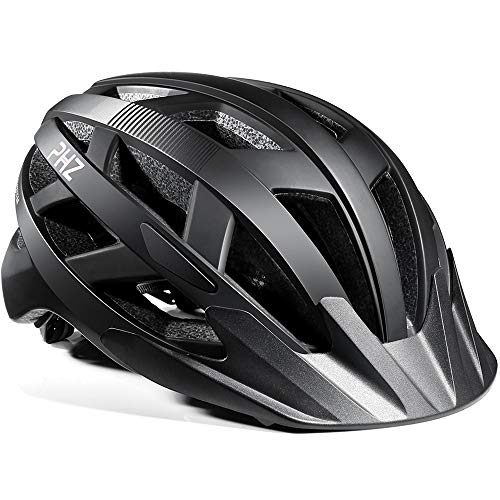 PHZ. Adult Bike CPSC Certified Helmet with Rechargeable Led Back Light/Detachable Visor Ideal for Road Ride Mountain Bike Bicycle for Men and Women …